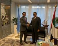Ambassador Nasir Andisha paid a courtesy visit with the UAE Ambassador Obaid Salem Saeed Nasser Alzaabi .