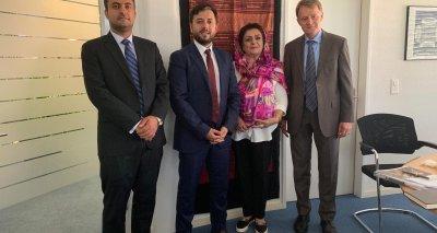 سفیر و نماینده دایمی افغانستان با رئیس اداره همکاری های سویس دیدار نمود