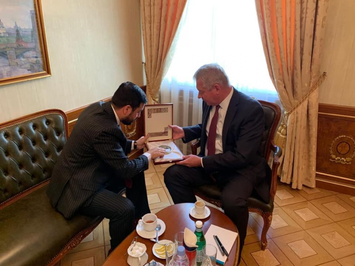 The Permanent Representative of the I.R of Afghanistan to the UNOG, Ambassador Nasir Ahmad Andisha had a courtesy meeting with the Permanent Representative of the Russian Federation to UNOG, Ambassador, Gennady Gatilov