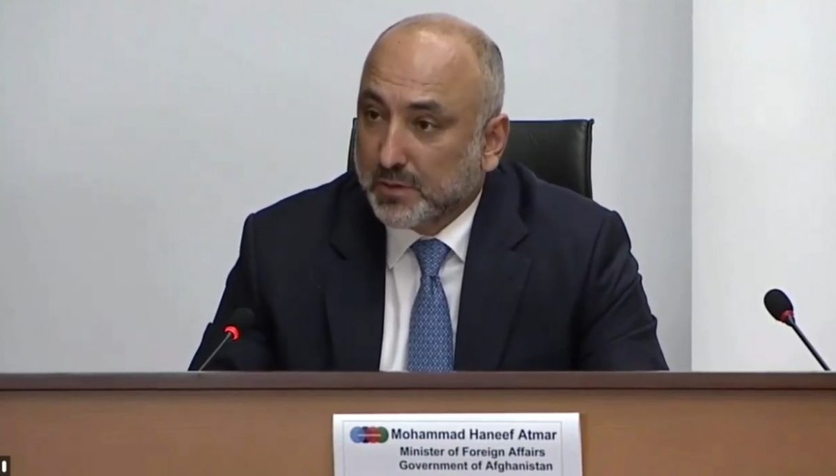 Briefing by the Minister of Foreign Affairs of Afghanistan during the Press Conference at the conclusion of Afghanistan Conference 2020