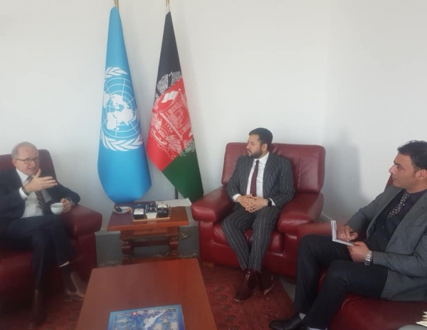 Ambassador Nasir Ahmad Andisha met with Mr. Richard Bennett, Chief of Human Rights Service of the UNAMA.