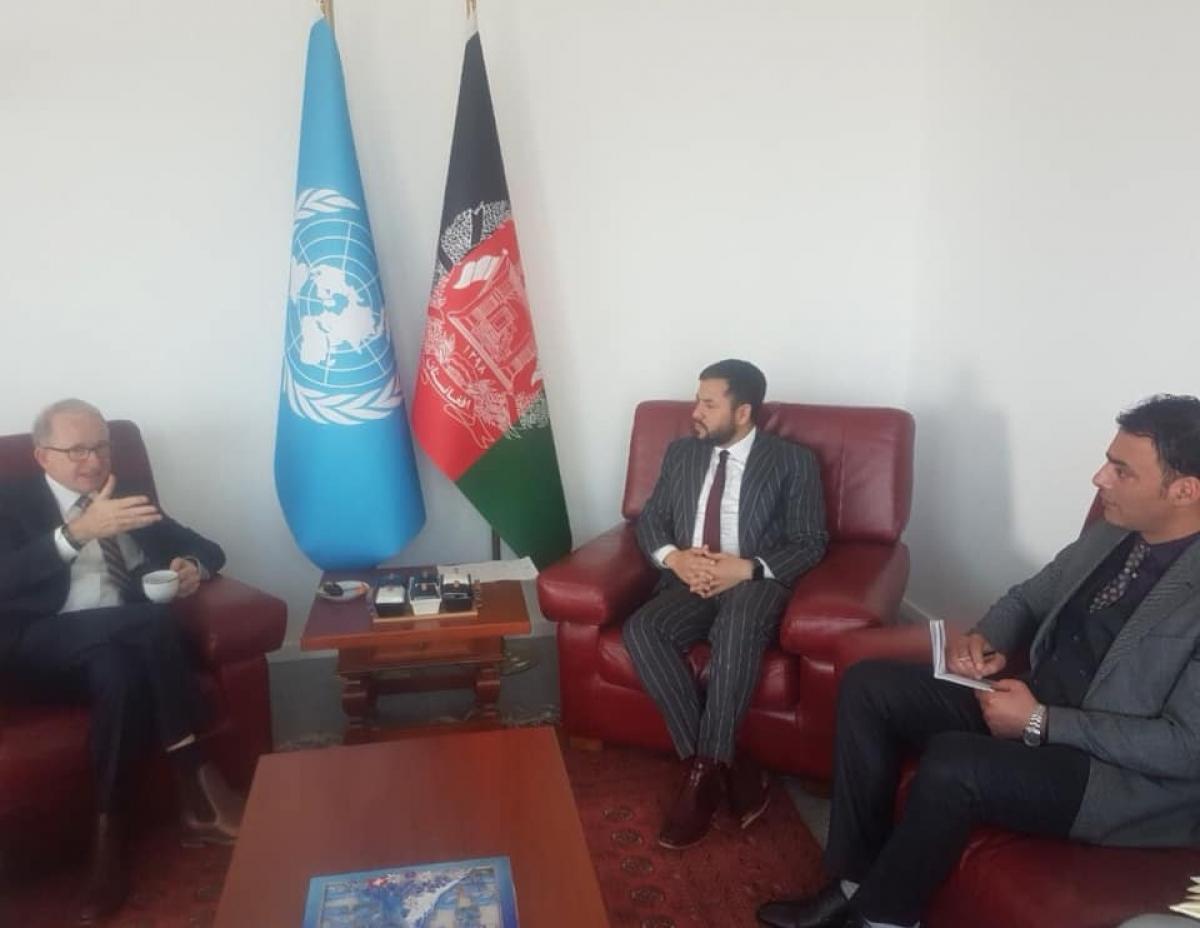 Ambassador Nasir Ahmad Andisha met with Mr. Richard Bennett, Chief of Human Rights Service of the UNAMA.